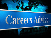 Career Advice Indicates Line Of Work And Advisory Stock Image