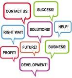 Career advise. A illustration of decision worlds stock illustration