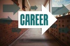 Career against empty hallway Stock Photo