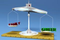 Career balance. Career or family choice on the balance royalty free illustration