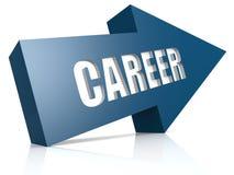 Career blue arrow Stock Image