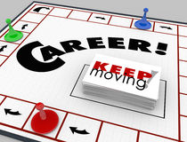 Career Board Game Keep Moving Advancing Promotion Stock Photos