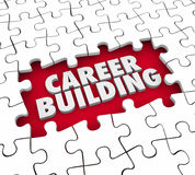 Career Building Puzzle Pieces Start New Job Position Experience Stock Photo