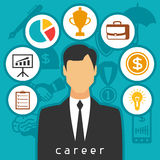 Career business and finance concept from flat. Icons Stock Photo