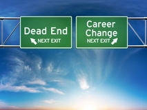 Career change or dead end job concept. Stock Image