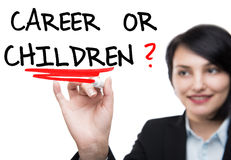 Career or Children Royalty Free Stock Image