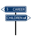 Career children roadsign Royalty Free Stock Photography