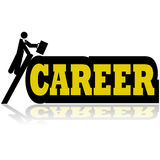Career climb vector illustration
