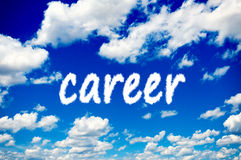 Career clouds Stock Photo