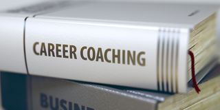 Career Coaching. Book Title on the Spine. 3D. Royalty Free Stock Photo