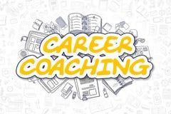Career Coaching - Cartoon Yellow Text. Business Concept. Stock Photos