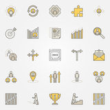 Career colorful icons set. Vector collection of creative business and job symbols Stock Photography