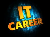 IT Career Concept on Digital Background. Stock Photos
