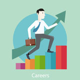 Career concept in flat design style Stock Photo