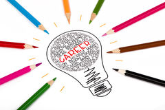 Career. Concept in light bulb Royalty Free Stock Images