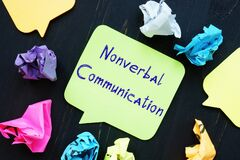 Career concept meaning Nonverbal Communication with sign on the piece of paper