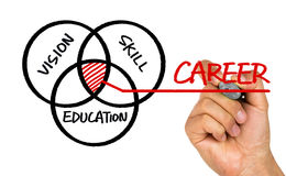 Career concept:vision skill education. Hand drawing on whiteboard Stock Photography
