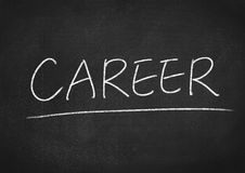 Career. Concept word on blackboard background Stock Photography