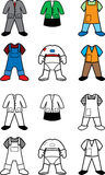 Career costumes coloring book Royalty Free Stock Photo