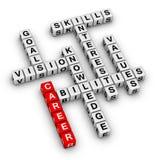 Career crossword puzzle Stock Photo