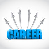 Career destinations concept illustration design Stock Photo