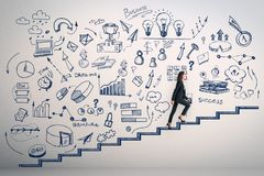 Free Career Development And Ascend Concept Royalty Free Stock Image - 134000816
