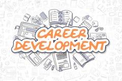 Career Development - Cartoon Orange Word. Business Concept. Career Development - Hand Drawn Business Illustration with Business Doodles. Orange Inscription Royalty Free Stock Photo