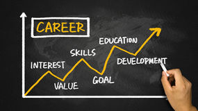 Career development chart Royalty Free Stock Photo