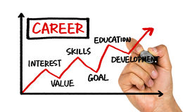 Career development chart Royalty Free Stock Images