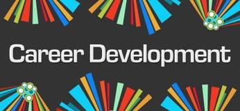 Career Development Dark Colorful Elements. Career development text written over dark colorful background Royalty Free Stock Photo