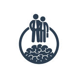 Career development icon with businessmen.Vector illustration. Career development icon with businessmen. Symbol for your design Royalty Free Stock Photography