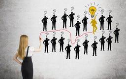 Career development leader position way Stock Photography