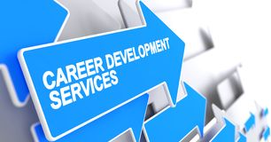 Career Development Services - Message on Blue Cursor. 3D. Career Development Services, Label on the Blue Arrow. Career Development Services - Blue Pointer with Stock Photo