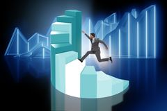 The career development with stairs in business concept Royalty Free Stock Photo