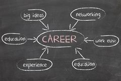 Career Diagram Dry Erase Board How to Succeed in Job Royalty Free Stock Images
