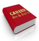 Career Dos Donts Book Manual Job Advice. Career Dos and Don'ts book cover to illustrate a manual of advice and instructions to help you improve your job vector illustration