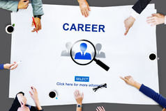 Career Employment Occupation Recruitment Work Concept Royalty Free Stock Photos
