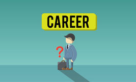Career Employment Recruitment Job Hiring Concept royalty free illustration