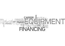 A Career In Equipment Finance What Do We Have Here Word Cloud. A CAREER IN EQUIPMENT FINANCE WHAT DO WE HAVE HERE TEXT WORD CLOUD CONCEPT Royalty Free Stock Photos