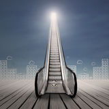 Career escalator Royalty Free Stock Photography
