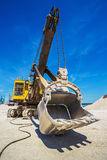Career excavator for mining of limestone Royalty Free Stock Images