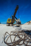 Career excavator for mining of limestone Royalty Free Stock Photos