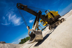 Career excavator for mining of limestone Stock Images
