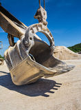 Career excavator for mining of limestone Royalty Free Stock Photo