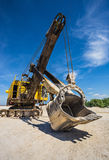 Career excavator for mining of limestone Royalty Free Stock Image