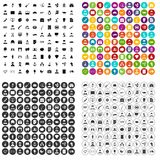 100 career fair icons set vector variant. 100 career fair icons set vector in 4 variant for any web design isolated on white Royalty Free Stock Image