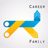 Career and family Royalty Free Stock Image
