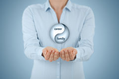 Career and family balance stock images