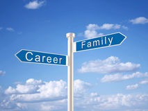 Career and Family Sign Royalty Free Stock Images