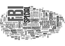 A Career With The Fbi Word Cloud Royalty Free Stock Photo